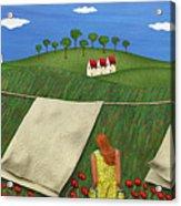 Soft Breeze Acrylic Print by Anne Klar