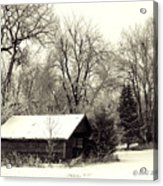 Soft Snow Cover Acrylic Print by Don Durfee