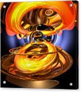 Solar Flare Abstract Acrylic Print by Alexander Butler