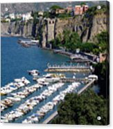 Sorrento Seaport Acrylic Print by Mindy Newman