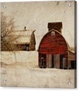 South Dakota Corn Crib Acrylic Print by Julie Hamilton
