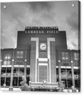 South End Zone Lambeau Field Acrylic Print by James Darmawan