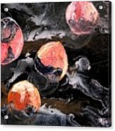 Space Eaten Peaches Acrylic Print by Evguenia Men