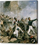 Spanish Uprising Against Napoleon In Spain Acrylic Print by Joaquin Sorolla y Bastida