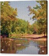 Spavinaw Creek Acrylic Print by Jeff Kolker