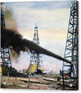 Spindletop Oil Pool, C1906 Acrylic Print by Granger