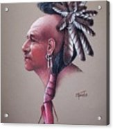 Spirit Of The Owl Acrylic Print by Mahto Hogue