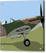 Spitfire Ww2 Fighter Acrylic Print by Michael Tompsett