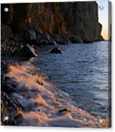 Split Rock Lighthouse At Dawn Acrylic Print by Larry Ricker