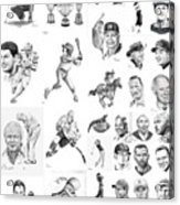 Sports Figures Collage Acrylic Print by Murphy Elliott