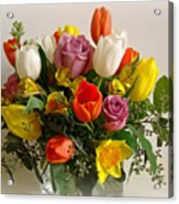 Spring Flowers Acrylic Print by Sandy Keeton