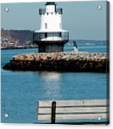 Spring Point Ledge Lighthouse Acrylic Print by Greg Fortier