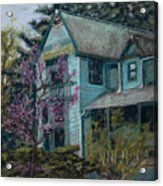 Springtime In Old Town Acrylic Print by Mary Benke