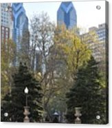 Sprintime At Rittenhouse Square Acrylic Print by Bill Cannon