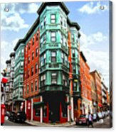 Square In Old Boston Acrylic Print by Elena Elisseeva