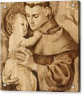 St. Anthony Acrylic Print by Conrad  Pinto