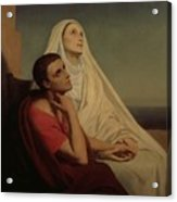 St Augustine And His Mother St Monica Acrylic Print by Ary Scheffer