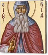 St David Of Evia Acrylic Print by Julia Bridget Hayes