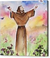 St Francis Of Assisi Acrylic Print by Regina Ammerman