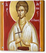 St John The Russian Acrylic Print by Julia Bridget Hayes