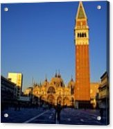 St Marks In Venice In Afternoon Sun Acrylic Print by Michael Henderson