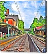 St. Martins Train Station Acrylic Print by Bill Cannon