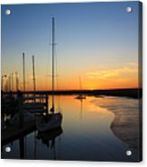 St. Mary's Sunset Acrylic Print by M Glisson
