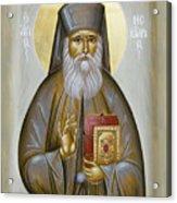 St Nektarios Of Aigina Acrylic Print by Julia Bridget Hayes