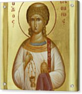 St Stephen The First Martyr And Deacon Acrylic Print by Julia Bridget Hayes