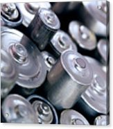 Stack Of Batteries Acrylic Print by Carlos Caetano
