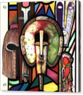 Stain Glass Acrylic Print by Anthony Burks Sr