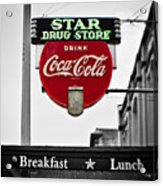 Star Drug Store Acrylic Print by Scott Pellegrin