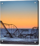 Star Jet Roller Coaster Ride  Acrylic Print by Michael Ver Sprill