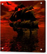 Starboard Tack Acrylic Print by Claude McCoy