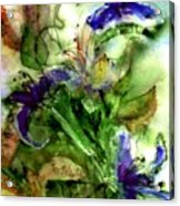 Starflower Acrylic Print by Anne Duke