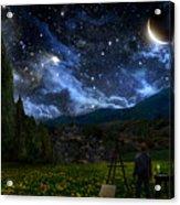 Starry Night Acrylic Print by Alex Ruiz