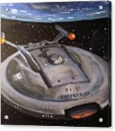 Starship Enterprise Acrylic Print by Rita Tortorelli