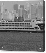Staten Island Ferry Bw16 Acrylic Print by Scott Kelley
