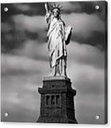 Statue Of Liberty At Dusk Acrylic Print by Daniel Hagerman