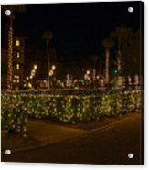 St.augustinelights1 Acrylic Print by Kenneth Albin