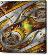 Steampunk - Spiral - Space Time Continuum Acrylic Print by Mike Savad