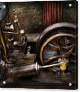 Steampunk - The Contraption Acrylic Print by Mike Savad
