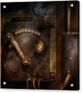 Steampunk - The Control Room  Acrylic Print by Mike Savad