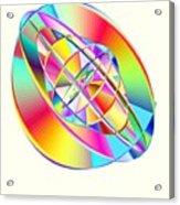 Steampunk Gyroscopic Rainbow Acrylic Print by Michael Skinner