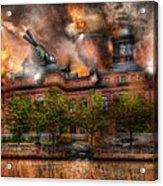 Steampunk - The War Has Begun Acrylic Print by Mike Savad