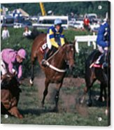 Steeplechase Spill - 1 Acrylic Print by Randy Muir
