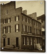 Stephensons Hotel - Harpers Ferry  West Virginia Acrylic Print by Bill Cannon