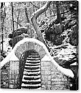 Steps Along The Wissahickon Acrylic Print by Bill Cannon