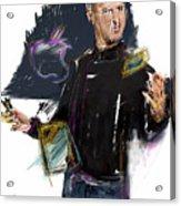 Steve Jobs Acrylic Print by Russell Pierce