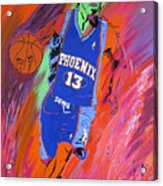 Steve Nash-vision Of Scoring Acrylic Print by Bill Manson